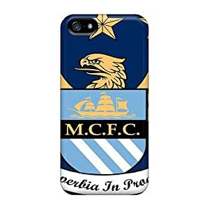 Premium ZfSHazH8871bhdDv Case With Scratch-resistant/ Famous Football Club Of England Manchester City Case Cover For Iphone 5/5s