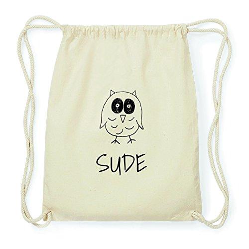 JOllipets SUDE Hipster Turnbeutel Tasche Rucksack aus Baumwolle Design: Eule Ox68gL