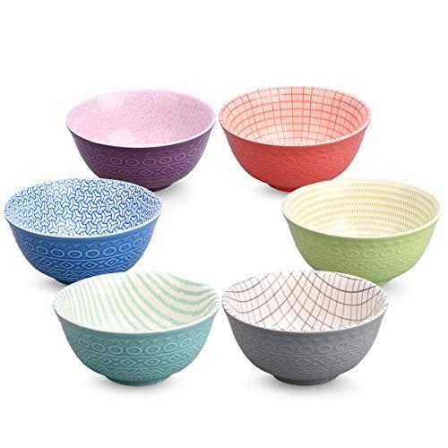Pad Printing Porcelain Bowls Set for Salad Pasta Dessert Rice, Noodle Soup Snack