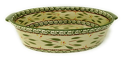 Temp-tations 3 Quart Baker Oval Casserole Dish Replacement (Old World Green)
