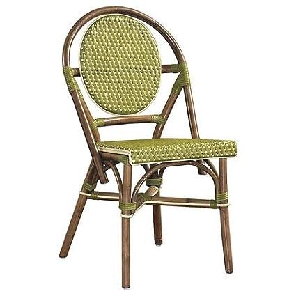 Sensational Amazon Com Outdoor Cottage Paris Bistro Fabric Side Chair Ibusinesslaw Wood Chair Design Ideas Ibusinesslaworg