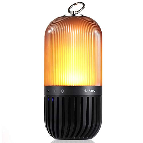 DIKAOU Portable Wireless Speakers, Flame Table Lamp, Romantic Camping Bluetooth Speakers with Superior Stereo Sound, BT4.2, IPX65 Speakers for Home, Camping, Travel, Outdoors, Gift for Women Men