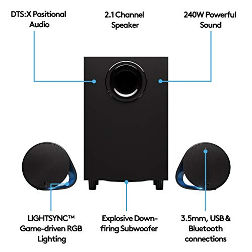 Logitech G560 LIGHTSYNC PC Gaming Speakers with Game Driven RGB