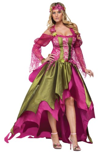 [FunWorld Plus-Size Rennaisaince Nymph, Pink/Green, PLUS SIZE Costume] (Sexy Fairy Halloween Costumes)