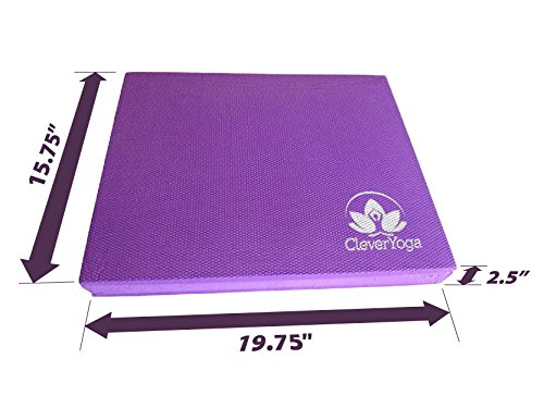 Clever X Balance Foam Pad Versatile Rehab Physical Tool, Pad Meditation - Extra Larger Than Other Foam
