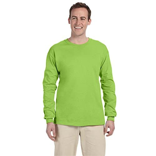 Hot Fruit Of The Loom 5.6 oz Heavy Cotton Long Sleeve T-Shirt 4930 free shipping