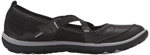 Clarks, Zapatos de piso para mujer Aria Mary Jane Cuero negro