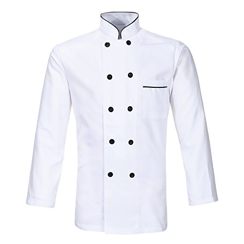 Unisex Hotel/Kitchen Chef Jacket Uniform Long Short Sleeved White Chef Vest Coat CFM0001