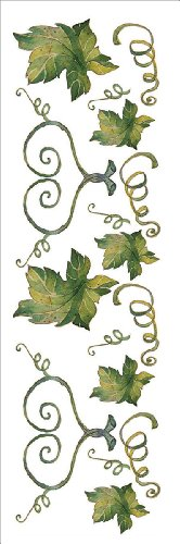 Royal Brush EZ Rub-Ons with Glitter, Vintage Leaves