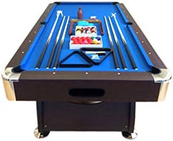 Simba 8 Piedi Vintage Blu- Mesa de billar profesional, 220 x 110 cm, 150 kg, color marrón con esquinas cromadas y tela azul.: Amazon.es: Deportes y aire libre