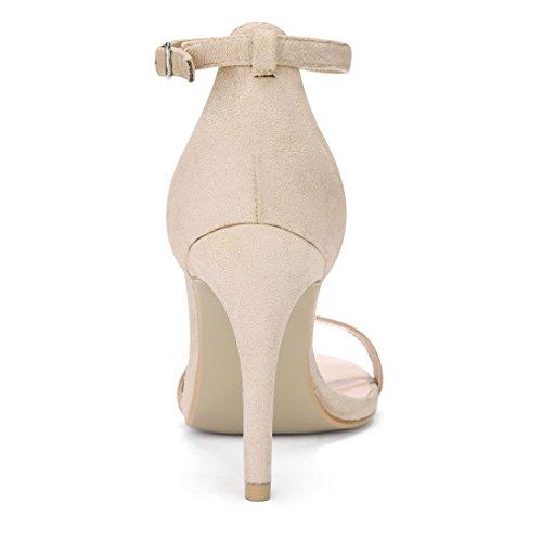 Ankle Heels Strap High Women Stiletto Sandals K Beige Allegra BXxzHH