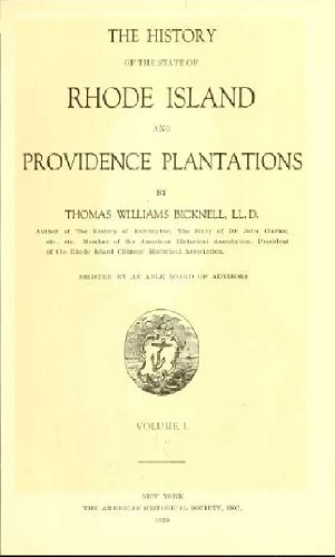 tate of Rhode Island and Providence Plantations (Volume 1) ()