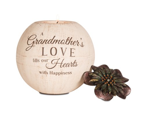 Pavilion Gift Company 19007 Light Your Way Terra Cotta Candle Holder, Grandmother, 5-Inch