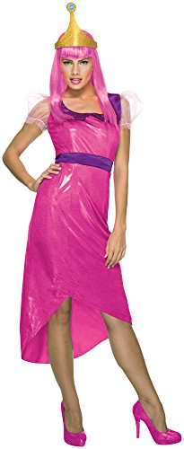 Rubie's Costume Co Women's Adventure Time Princess Bubblegum Costume, Pink, Medium
