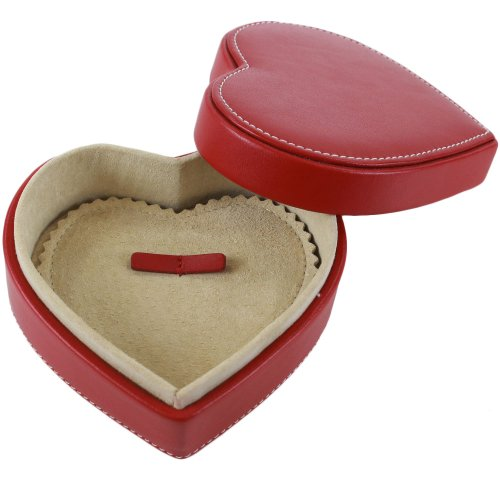 Coach Leather Heart Shape Jewelry Box Red Buy Online in UAE