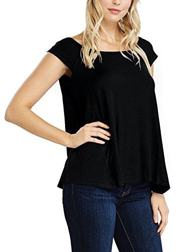 Ware Tam Femmes Mancherons Lâche T-shirt (made In Usa) Noir