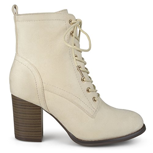 - Brinley Co Women's Birdie Combat Boot, Bone, 8.5 Regular US