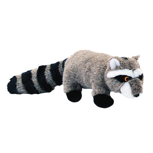 Pet Lou RAC-8 Medium Plush Dog Chew Toy, 8-Inch Raccoon