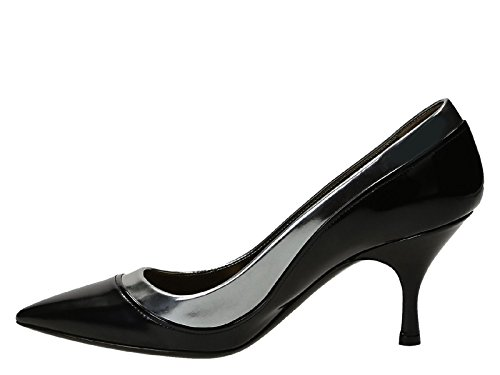Lanvin mid-Heels Pumps in Black Calf Leather - Model Number: AW5P1FMAGC7B Black 6pfvtXw