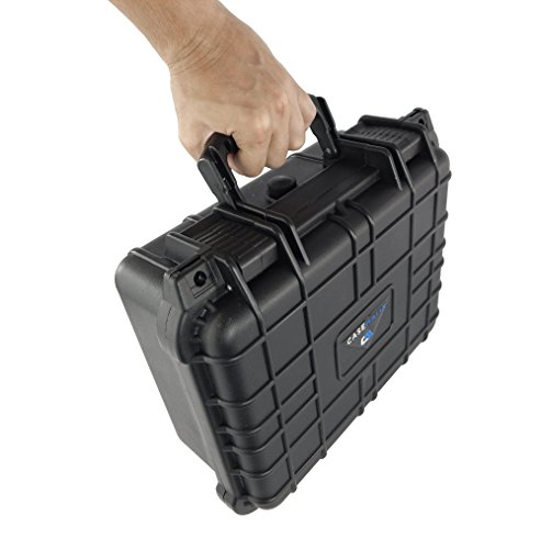 CASEMATIX Waterproof Carrying Case Designed For DBPower T20 1500 Lumens Home Theatre Projector , Remote , Power Supply , Cables and Accessories by CASEMATIX (Image #1)
