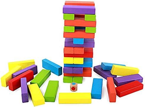TXDIRECT Jenga Madera Jenga Gigante Equilibrio Juego Jenga para niños Jenga Gigante para Adultos Jenga para Adultos Bloques de Gigante Jenga Juego 48pcs: Amazon.es: Hogar
