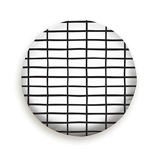 YANAIX Black White Rectangle Grid Plaid Table Spare Tire Cover Dust-Proof Universal Spare Wheel Tire Cover Fit for Trailer, RV, SUV and Many Vehicle 14