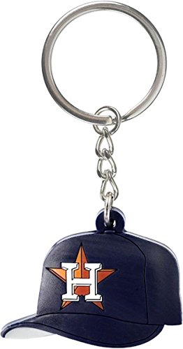 aminco MLB Houston Astros Soft Rubber Team Cap Key Ring