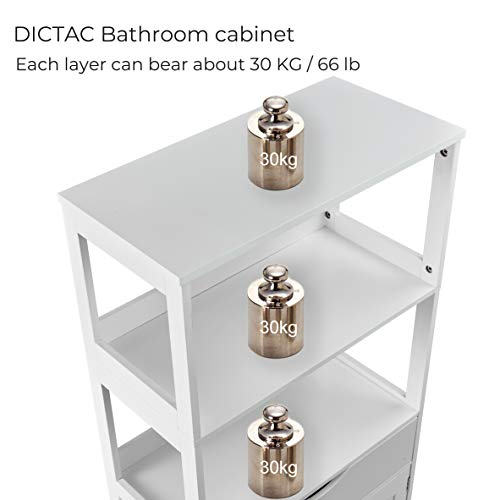 Dictac Storage Cabinet With Drawer Shelves And Door 23 62 X12 4 X48 Kitchen Pantry Cabinets Microwave Storage Cabinet Cupboard Tall Freestanding Cabinet For Bathroom Kitchen Bedroom Ect White Pricepulse