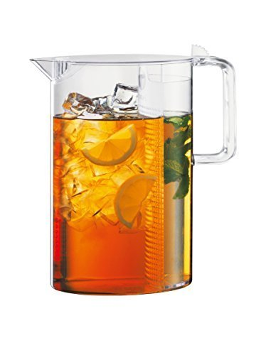 Bodum Ceylon Ice Tea Jug with Filter, 101 oz, Clear