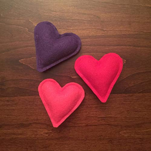 (Heart Organic Catnip Cat Toy - 3 Pack )