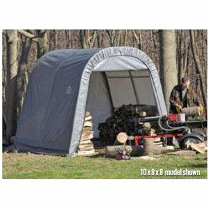 ShelterLogic Ultra Shed – Round Style, 16Ft.L x 10Ft.W x 8Ft.H, Model# 77823