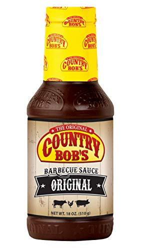 Country Bob's Barbeque Sauce, 18 Ounce Bottle (Pack of 6) (Best Low Sodium Bbq Sauce)
