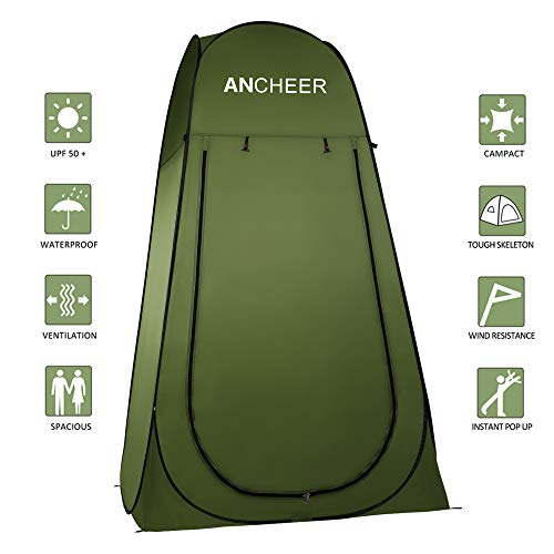 ANCHEER Pop Up Tent Portable Camping Shower Tent Toilet Tent for Outdoor Beach...