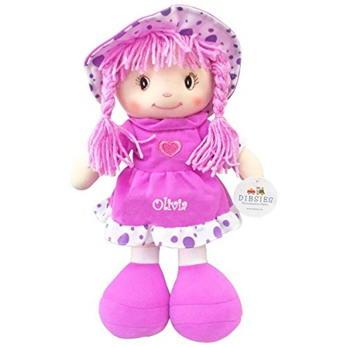 Personalized Sweetheart Cuddle Doll - 14 Inch (Purple) Sweetheart Toddler Doll