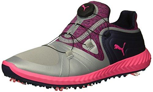 (PUMA Golf Women's Ignite Blaze Sport Disc Golf Shoe, Quarry-Knockout Pink, 8.5 M US)