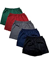 Mens Satin Boxer Shorts, Solid Color Individual or Packs