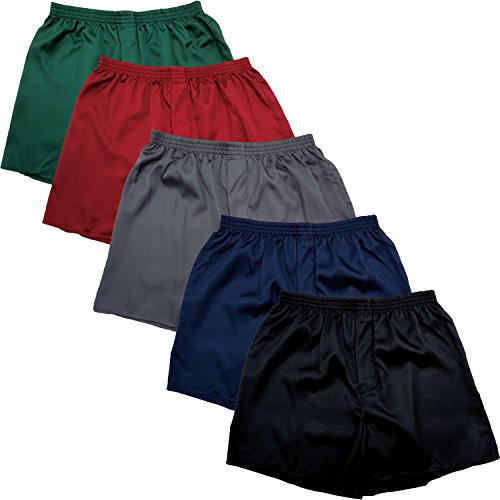 del-rossa-mens-classic-satin-boxer-shorts-pack-of-5-solids-large-solid-colors-a0753pkalg