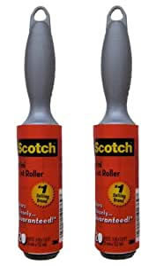 Scotch Mini Lint Roller. Travel Size Small Lint Rollers. Set of 2 Mini Lint Removers