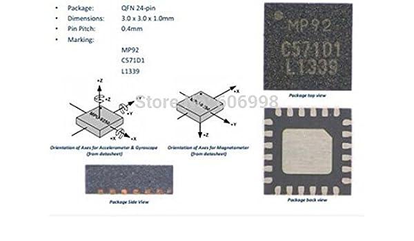 Amazon com: SYEX 2pcs/lot GY-9250 MPU-9250 Nine Axis Sensor Module