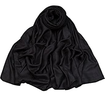 Women Pashmina Shawl Scarf Soft Fashion Scarves Wraps for Special Occasion black