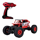 2.4Ghz Remote Control Cars Rock Crawler RC Truck 4WD 1:18 25MPH RTR Off-Road SUV Buggy All Terrain Red Conqueror
