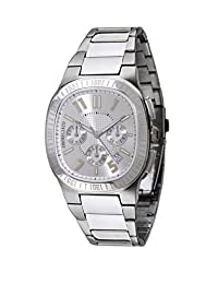 Morellato Men's Steel Analog Quartz 'Capri' Watch with Time Recorder, Date Indicator, Silver Chequered Dial and Steel Bracelet - SZ6003