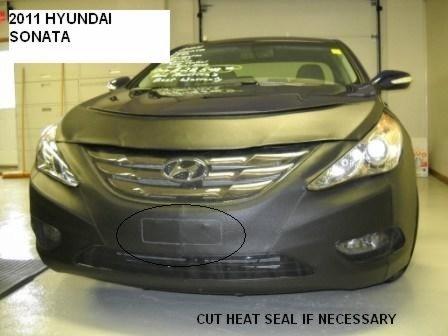 Lebra 2 Piece Front End Cover Black - Car Mask Bra - Fits - Hyundai Sonata 2011-2013 expept hybrid