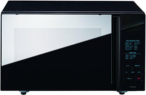 TWINBIRD mirror glass flat microwave (black) DR-4259B by Twinbird