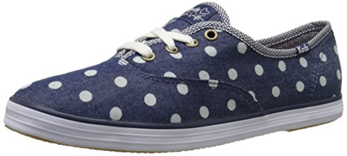 Keds Women's Taylor Swift Dot Denim Fashion Sneaker, Dark Denim, 5.5 M US (Fashion Dot Sneaker)
