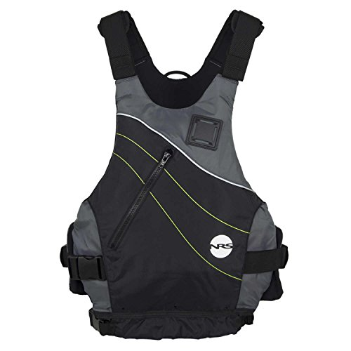 NRS VAPOR Low-Profile PFD Life Vest - BLACK L/XL Fits 38-46""