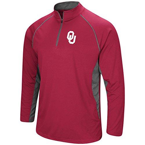 Oklahoma University Sooner Football - Colosseum Men's NCAA-Rival-1/4 Zip Pullover Windshirt-Oklahoma Sooners-Crimson-XL