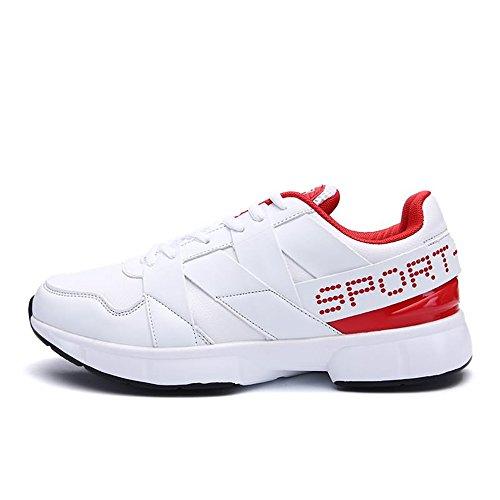 Piatto Corsa Tacco da Sneaker White da Uomo Sportive Red Cricket da Uomo con Scarpe per Scarpe RFEY0xqB