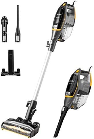 Eureka Flash Lightweight Stick Vacuum Cleaner,15KPa Powerful Suction, 2 in 1 Corded Handheld Vac for Hard Floor and Carpet, Black