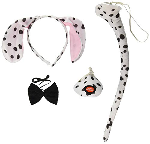 Forum Novelties Animal Costume Set Dalmatian Dog Ears Nose Tail with Sound Effects -